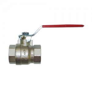 Shut-off ball valve - threaded ends F/F, with red handle